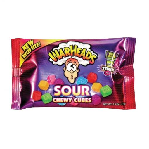 Warheads Chewy Cubes 70 g