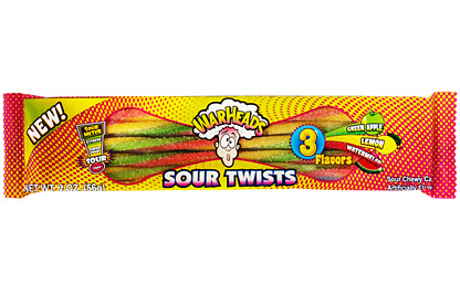 Warheads Sour twists 56g - 3 príchute