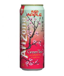 Arizona Green Tea with red apple plechovka 680 ml