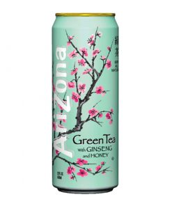 Arizona Green Tea with ginseng and honey plechovka 680 ml