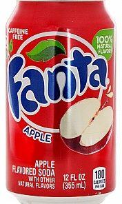 Fanta Apple plechovka 355 ml