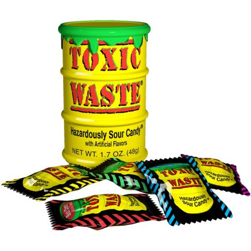 Toxic Waste Yellow Drum extreme sour candy 42 g