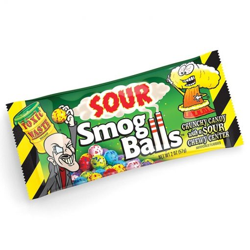 Toxic Waste Smog Balls sour candy 48 g