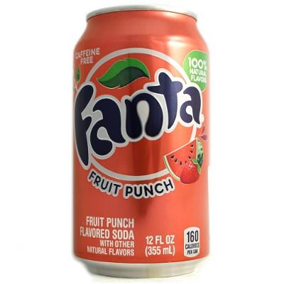 Fanta Fruit punch plechovka 355 ml