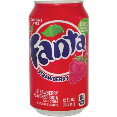 Fanta Strawberry plechovka 355 ml