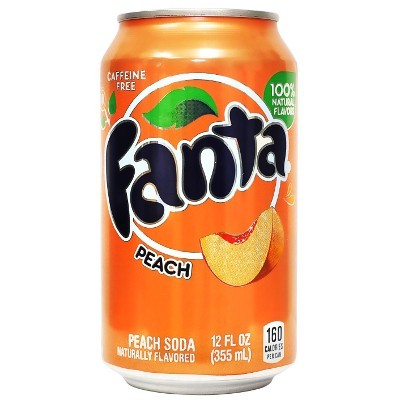 Fanta Peach plechovka 355 ml