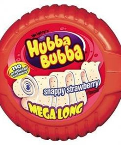 Wrigleys Hubba Bubba Snappy Strawberry Flavour Mega Long 56 g