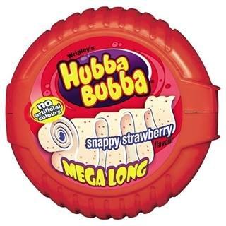 Wrigleys Hubba Bubba Snappy Strawberry Flavour Mega Long 56 g