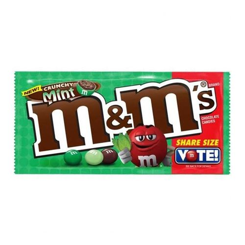 M&M Crunchy Mint Share Size 80 g