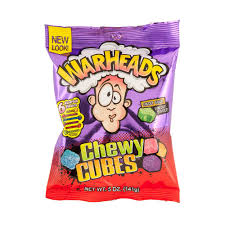 Warheads Extreme Sour Chewy Cubes 141 g
