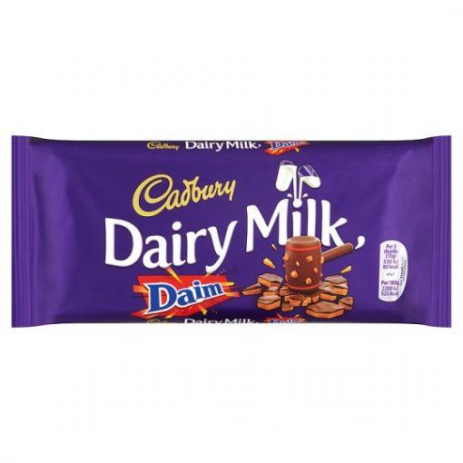 Cadbury Dairy Milk with daim Chocolate Bar 120 g