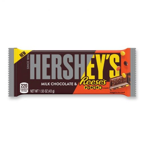 Hersheys Milk Chocolalate & Reeses Pieces 43 g