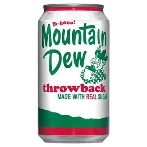 Mountain Dew Throwback plechovka 355 ml