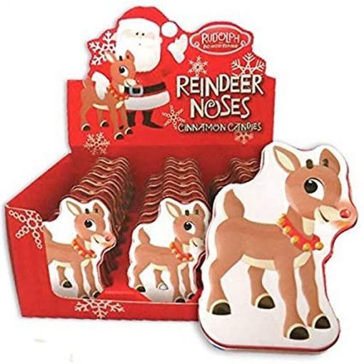 Boston America Rudoph Reindees Noses Candy Tins 34 g