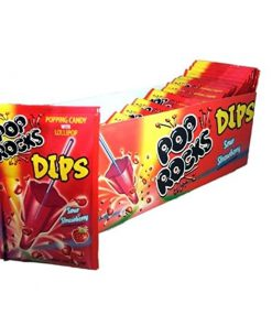 Pop Rocks Dips Sour Strawberry18 g