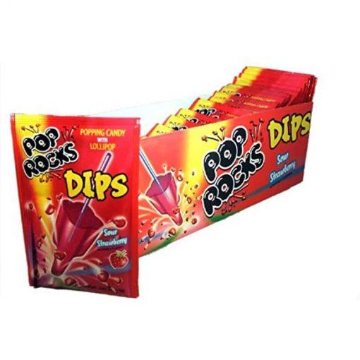 Pop Rocks Dips Sour Strawberry18 g
