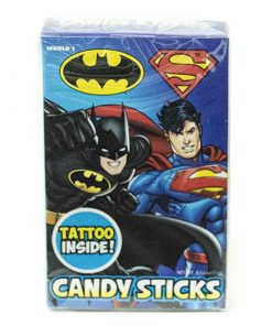 World Batman & Superman Candy Sticks & Tattoo 15 g