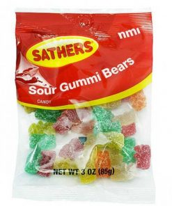 Sathers Sour Gummi Bears 85 g