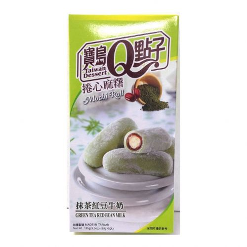 Green Tea Red Bean Mochi Roll 150 g