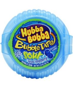 Hubba Bubba Sour Blue Raspberry Bubble Tape 56
