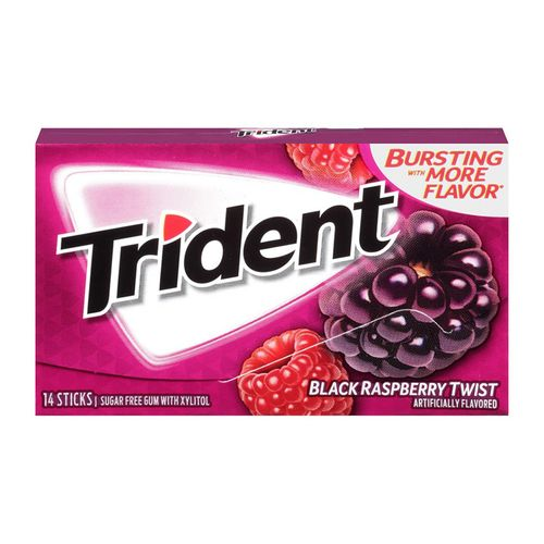 Trident Black Raspberry Twist Gum 33
