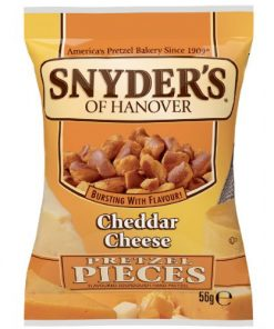 Snyders Cheddar Cheese Pretzel Pieces 56 g