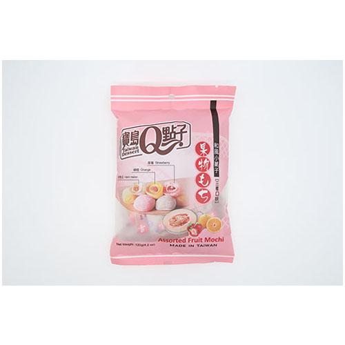 Q Brand Mochi Assorted Fruit Mix 120 g