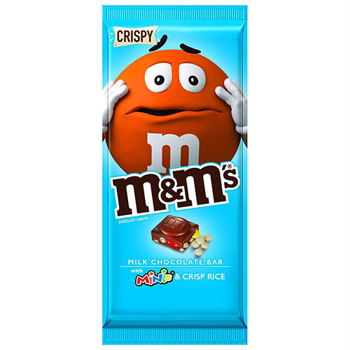 M&M´s Chocolate Bar with Mini´s and cripsy rice