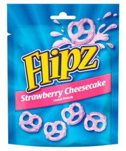 Flipz Strawberry Cheesecake Coated Pretzels 90 g