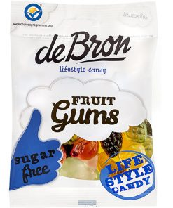 De Bron Fruit Gums Sugarfree 100 g