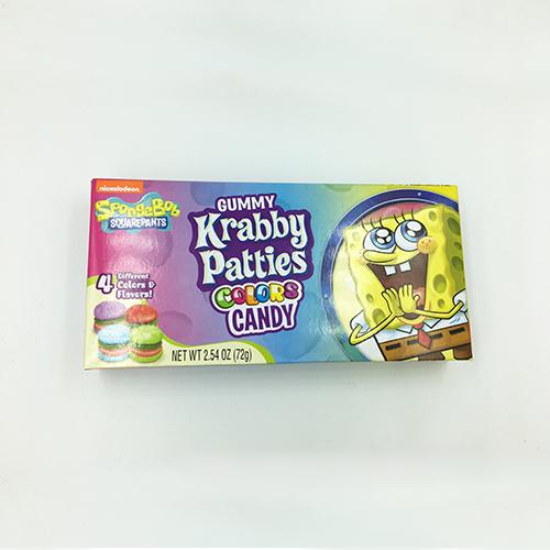 Spongebob Squarepants Gummy Krabby Patties Colors 72 g