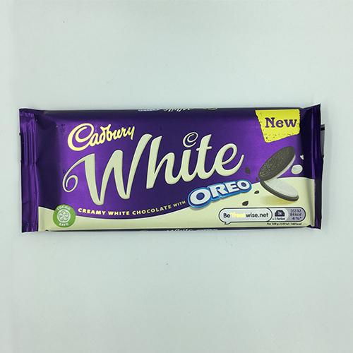 Cadbury Oreo White Chocolate Bar 120 g