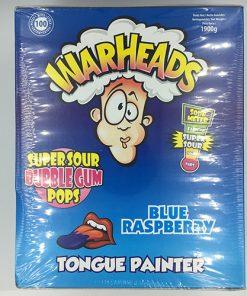 Warheads Blue Raspberry Bubblegum Pop 21 g