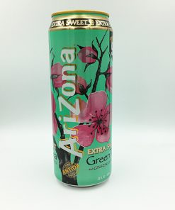 Arizona Green Tea With Ginseng And Peach Extra Sweet 680ml